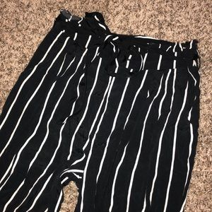 Forever 21 flowy striped pants SMALL